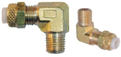 Conexão em latão com anilha plástica